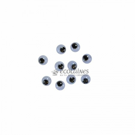 Yeux mobiles 7 mm