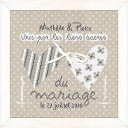 Fiche de broderie : Unis par les liens du mariage