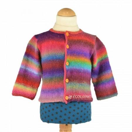 Kit de laine : Gilet Mille colori baby