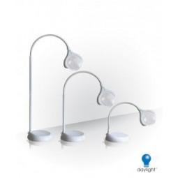 Lampe-loupe LED MAGnificent Daylight sur Pied ou de Table, Blanc