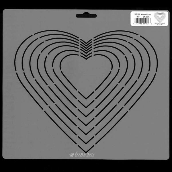 Stencil de patchwork - Heart Echo