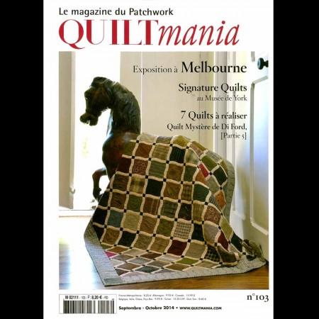Quiltmania n°103 septembre/octobre 2014