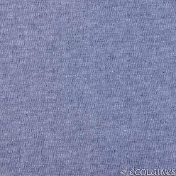 Tissu chambray bleu marine