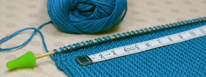 Faire un échantillon de tricot 10 x 10 cm