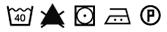 Pictogramme lavage Tissu 40° + seche li