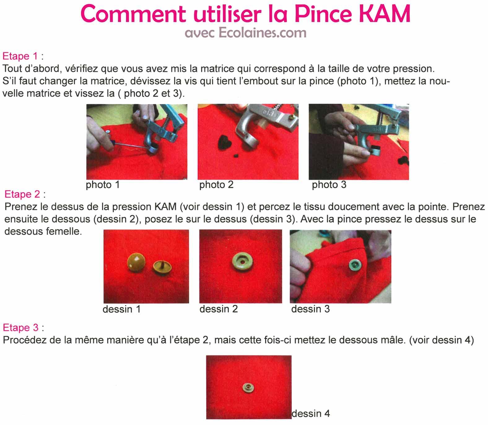 Tutoriel Pince KAM, comment utiliser la pince KAM