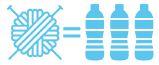 1 pelote = 3 bouteilles plastiques recyclées